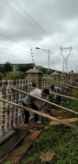 海南水泥栏杆安装案例